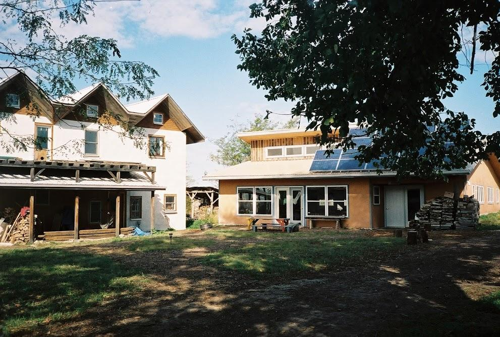 Dancing Rabbit Skyhouse and Common House in 2004