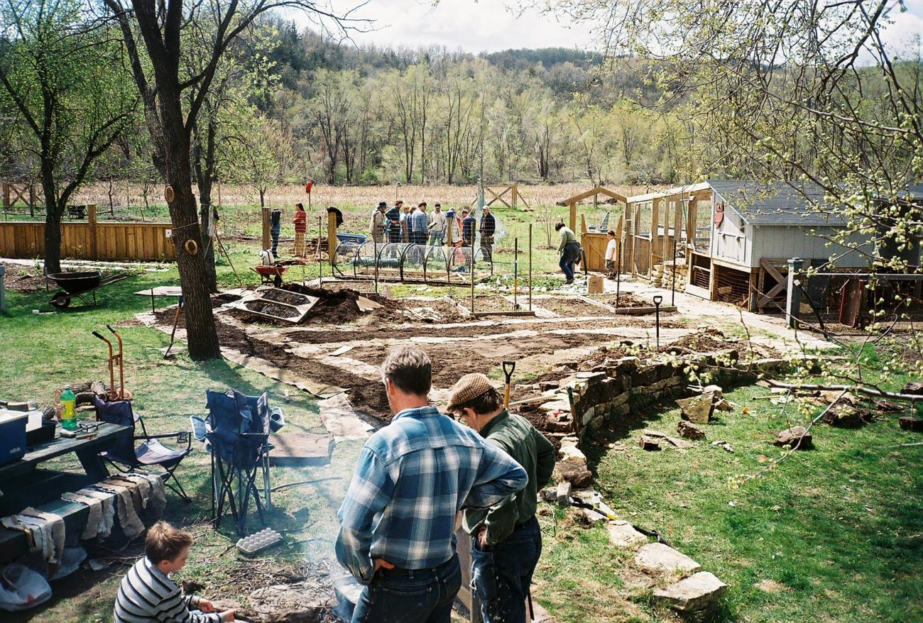Permaculture work party in Minnesota